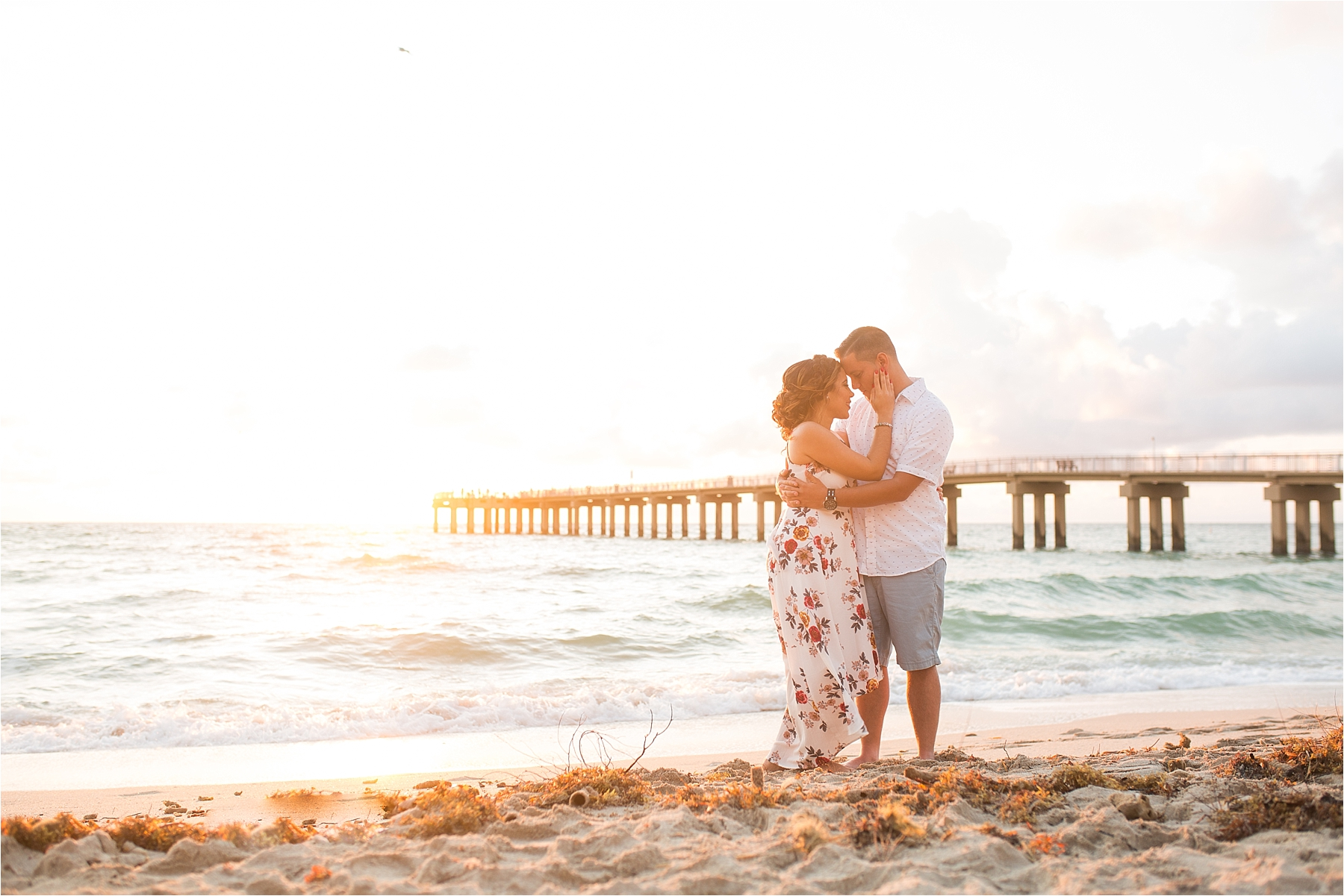 Monica and Dayron Romantic Beach Session